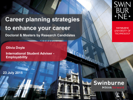Presentation slides (PPT 9.1MB) - Swinburne University of Technology