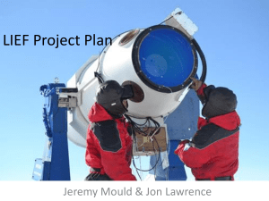 LIEF Project Plan