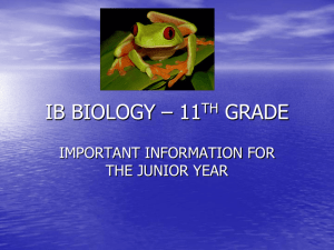 IB BIOLOGY – 12TH GRADE