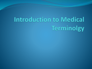 Introduction to Medical Terminolgy