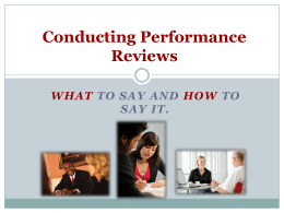 EFFECTIVE EMPLOYEE APPRAISALS