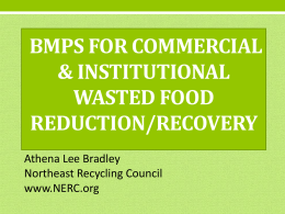 Wasted Food Reduction BMPs