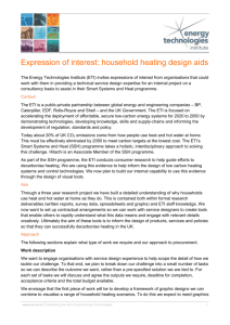 Expression of interest: household heating design aids