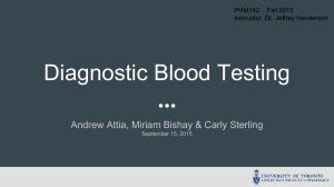 Diagnostic Blood Testing