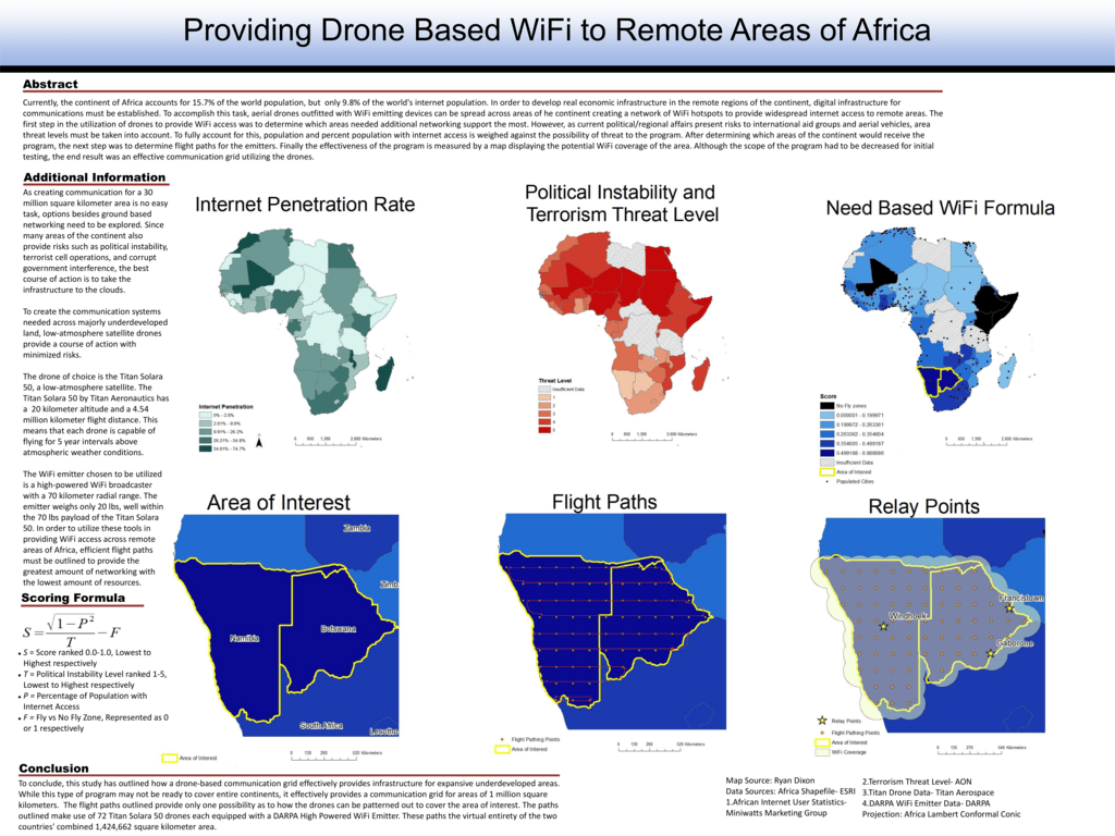 Providing Drone Based WiFi to Remote Areas of Africa
