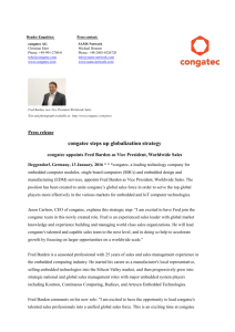 congatec steps up globalization strategy