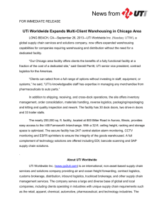 UTi Worldwide Expands Multi-Client Warehousing in