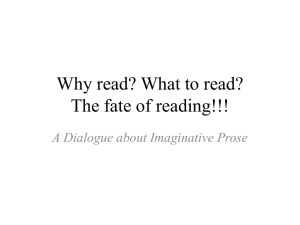 Why read? What to read? The fate of reading?