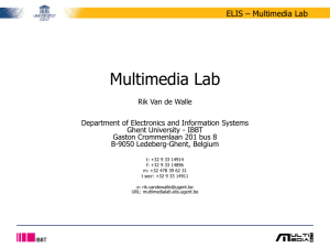 Multimedia Lab - overview activitities