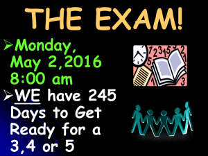 THE EXAM-2016 Power Point - Mr. Morrow's Chemistry Website