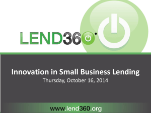Innovation in Small Business Lending