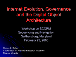 Internet Evolution & Governance