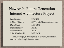 NewArch: Future Generation Internet Architecture