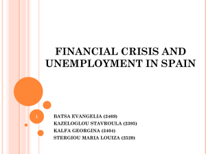 financial crisis and unemployment in spain