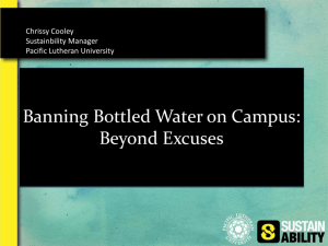 Banning Bottled Water on Your Campus