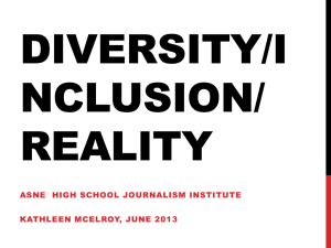 Diversity - School of Journalism