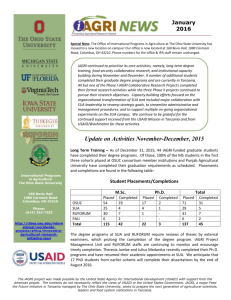 iAGRI News: November 2015 - College of Food, Agricultural, and