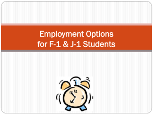 Employment Options for F-1 and J-1 Students [ppt]