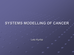 computational modelling of cancer
