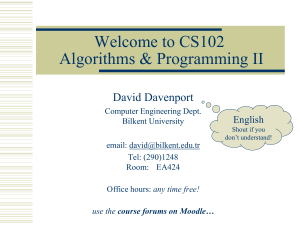 CS102 Introduction slides