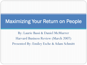 Maximizing Your Return on People