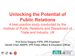 Unlocking the Potential of Public Relations