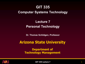 GIT 335 Lecture 7 - Arizona State University