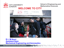 School of Engineering and Mathematical Sciences