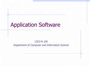 Application Software - Department of Computer and Information