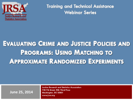 bales_matching - Justice Research and Statistics Association