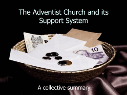 Offerings - Adventist Church in UK and Ireland