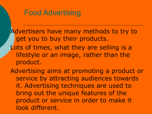 Food Advertising - Mr. Potter's Wikispace
