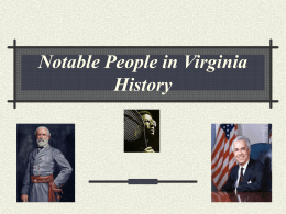 Notable People In Virginia History