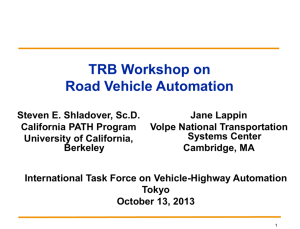 ITFVHA13_US_TRB_Workshop_Shladover