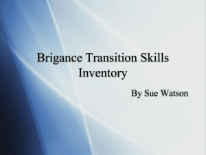Brigance Transition Skills Inventory