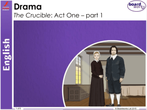 The Crucible - Act 1 Part 1