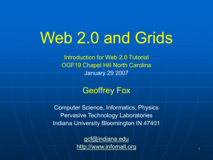Web 2.0 and Grids - Digital Science Center