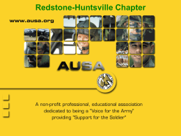 Click to the AUSA Chapter Briefing PowerPoint Presentation