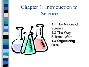 Chapter 1: Introduction to Science