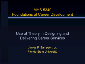 Use of Theory in Designing and Delivering Career Services
