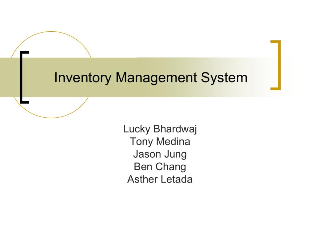 System Flowchart Inventory Management System