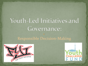 Presentation: Youth-Led Initiatives and Governance