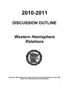 2010-2011 DISCUSSION OUTLINE Western Hemisphere Relations