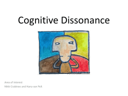 Cognitive Dissonance