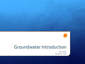 Groundwater PPT Intro