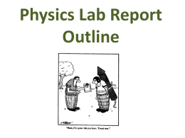 physics lab report book The perfect lab report including ones for chemistry and physics with specific hints for each experiment you will as given in the biology 100/101 lab book.