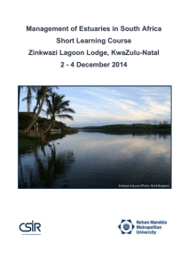 Management of Estuaries in South Africa Short Learning Course