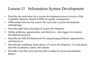 Lesson-11 Information System Development