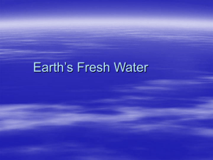Earth's Fresh Water Power Point