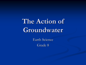 The Action of Groundwater